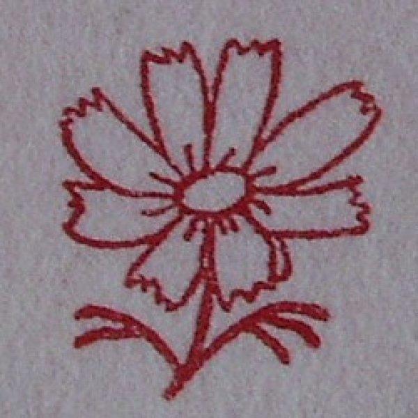 画像1: 「秋桜(こすもす)」の本柘植遊印 (1)