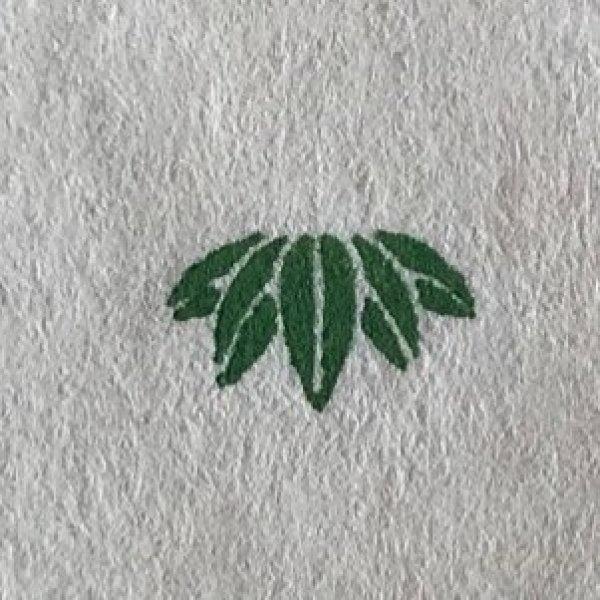 画像1: 「竹(笹)赤と線」の本柘植遊印 (1)