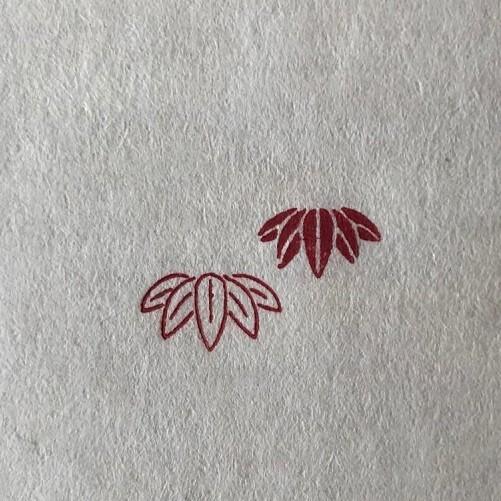 「竹(笹)」の本柘植遊印 工房蓮